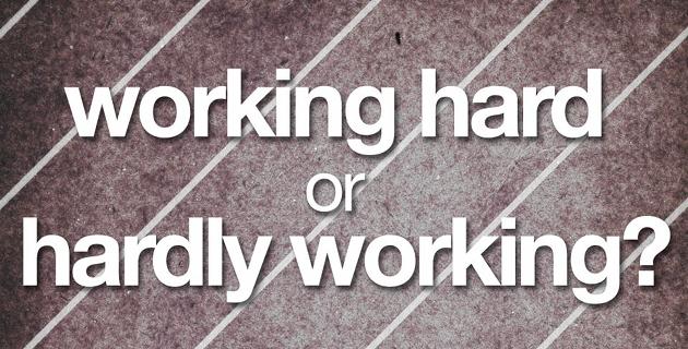 trabalhar no duro