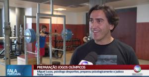 """Entrevista à estação de Televisão """"Record"""" no Programa Fala Portugal sobre a preparação mental de um atleta olímpico"""